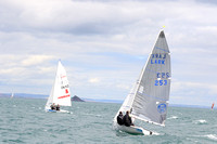 Mirror Dinghies competing at Brixham in the European Championships